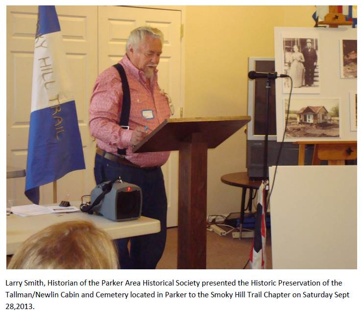 Larry Smith at DAR (Historic Preservation of the Tallman-Newlin Cabin and Cemetery
