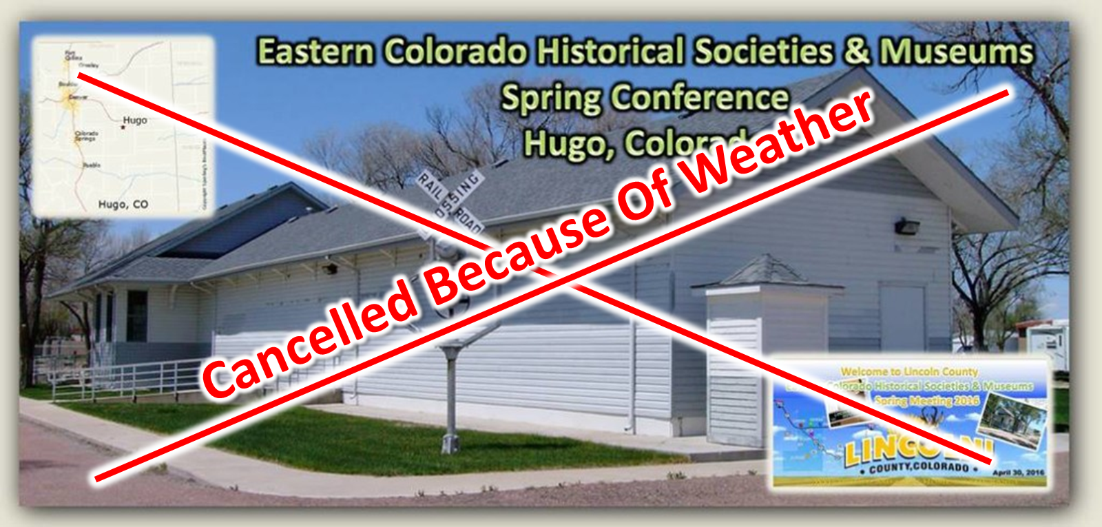 ECSH&M Cancelled Because of Weather