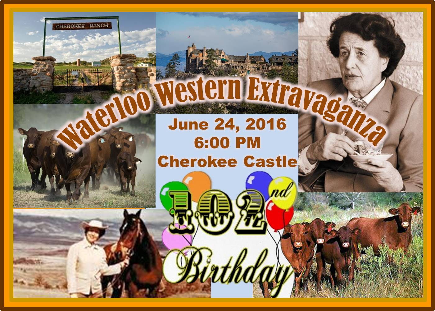Waterloo Western Extravaganza (Tweet Kimbel's 102nd Birthday Celebration at the Cherokee Castle-2016)