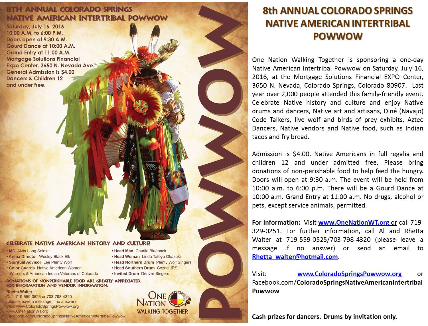 8th Annual Colorado Springs Native American Intertribal Powwow