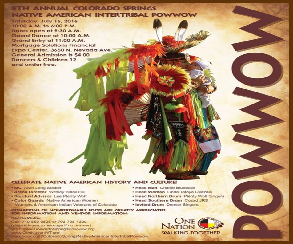 July 16, 2016 8th Annual Colorado Springs Native American Intertribal Powwow