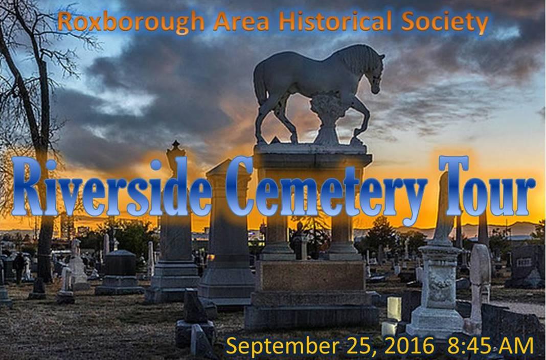 RAHS Riverside Cemetery Tour