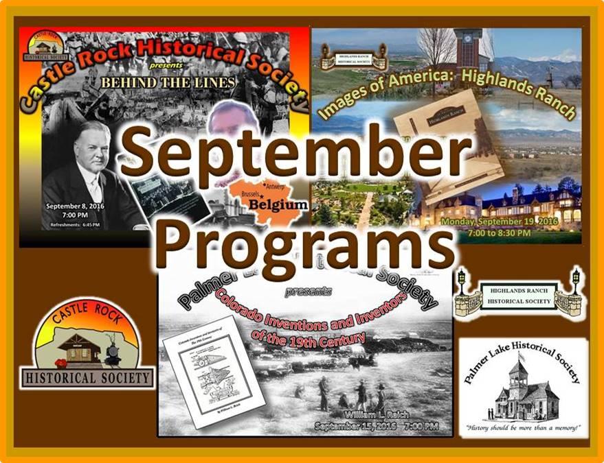 September 2016 Programs